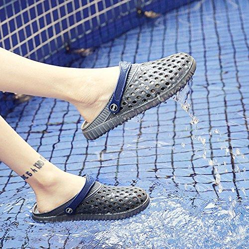 Zapatos al de Zapatos Ocio Color Baotou Hombres Aire los Gris de Antideslizantes Playa de Zapatillas hoyo de Verano Gris Sandalias HAOYUXIANG Libre Nuevo 41 Tamaño Estilo Cool fI57Hq7w