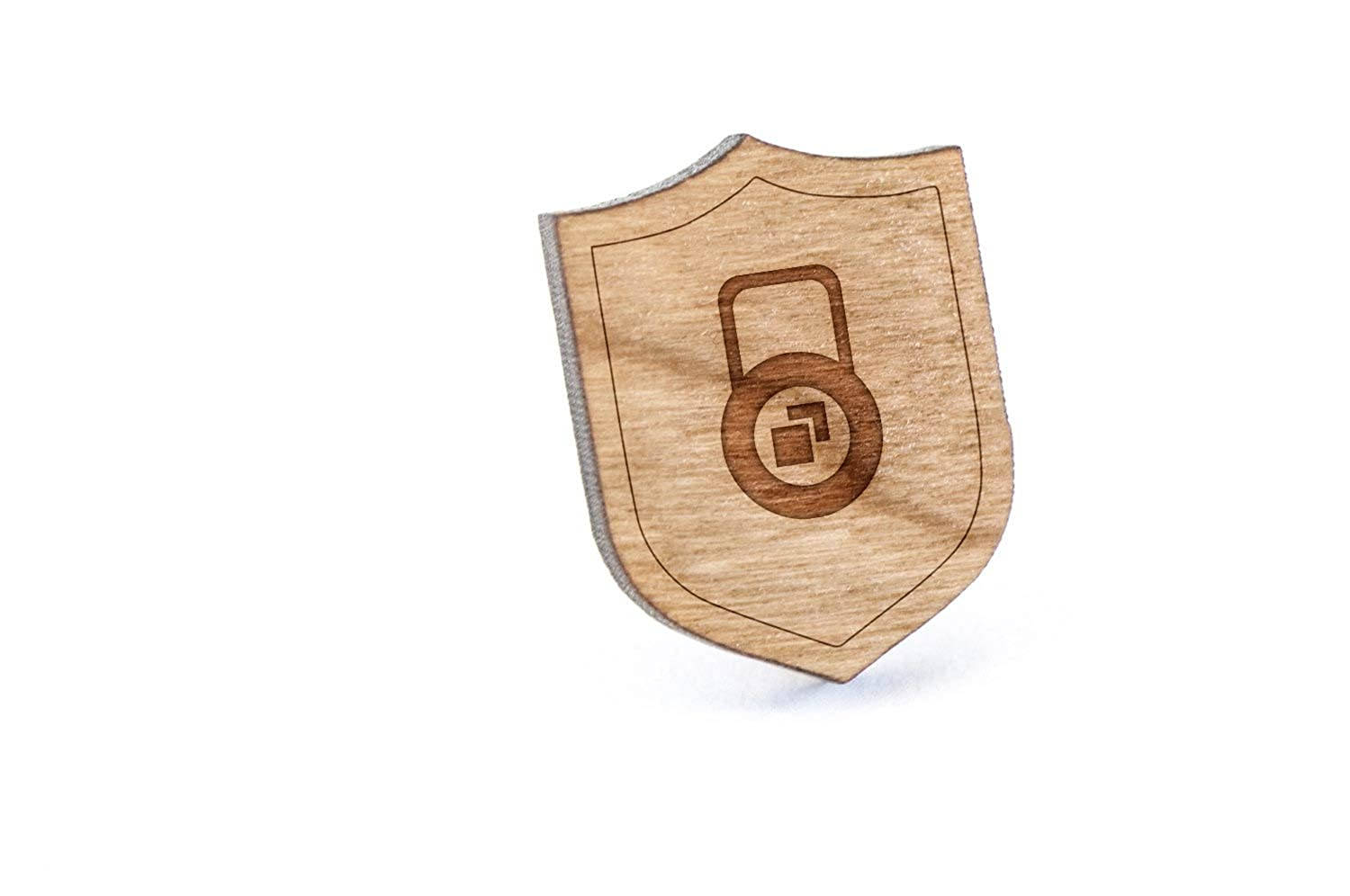 Cube Lock Lapel Pin, Wooden Pin And Tie Tack | Rustic And Minimalistic Groomsmen Gifts And Wedding Accessories