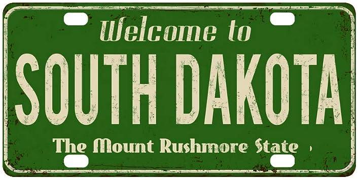 License Plate South Dakota Customizable 13 oz Banner Heavy-Duty Vinyl Single-Sided with Metal Grommets