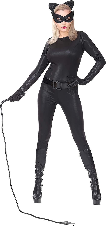 WIDMANN Disfraz de Catwoman Negro para Mujer XS: Amazon.es ...
