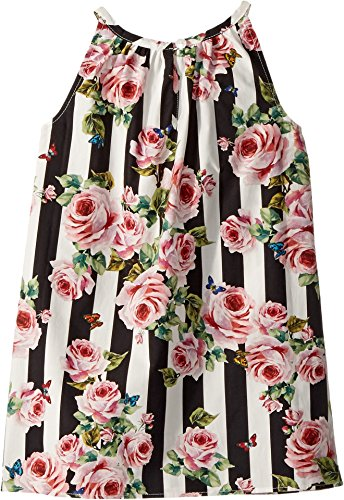 Dolce & Gabbana Kids Baby Girl's Sleeveless Dress (Infant) Stripe Rose 3-6 by Dolce & Gabbana (Image #1)