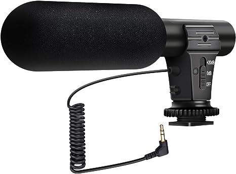 Versión actualizada] Micrófono para Cámaras, EIVOTOR Micrófono ...