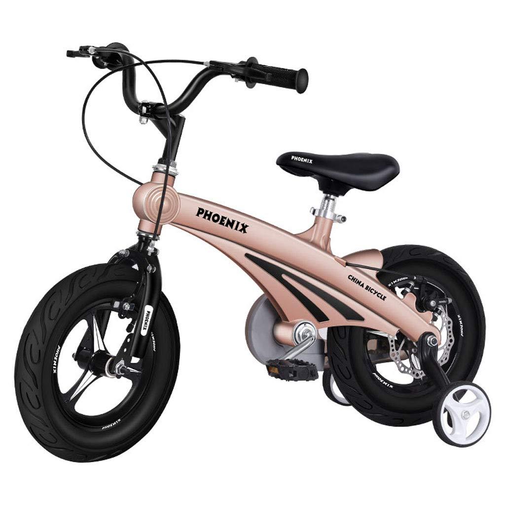 (訳ありセール 格安) 子供の自転車2-3-6-7-8-9歳の男性と女性子供赤ちゃん12 14in/14/16インチペダルバイクマグネシウム合金1フレームディスクブレーキ自転車ゴールド 14in B07PQQKGNJ B07PQQKGNJ, ニシゴウムラ:f8f65143 --- vanhavertotgracht.nl