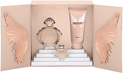 Paco Rabanne Olympea, Set, EDP de 50 ml, Body Lotion de 75ml y Miniatur EDP de 6 ml: Amazon.es: Belleza