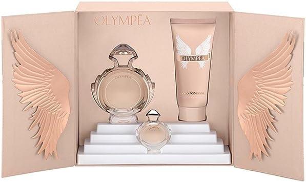 Paco Rabanne Olympea, Set, EDP de 50 ml, Body Lotion de 75ml y Miniatur EDP de 6 ml: Amazon.es: Belleza