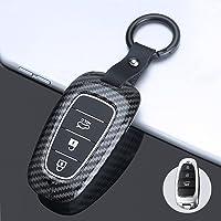 ontto Etui na kluczyki samochodowe pasuje do Hyundai Sonata Tucson NX4 Nexo Solaris Santa Fe 2020 2021 etui na pilot…