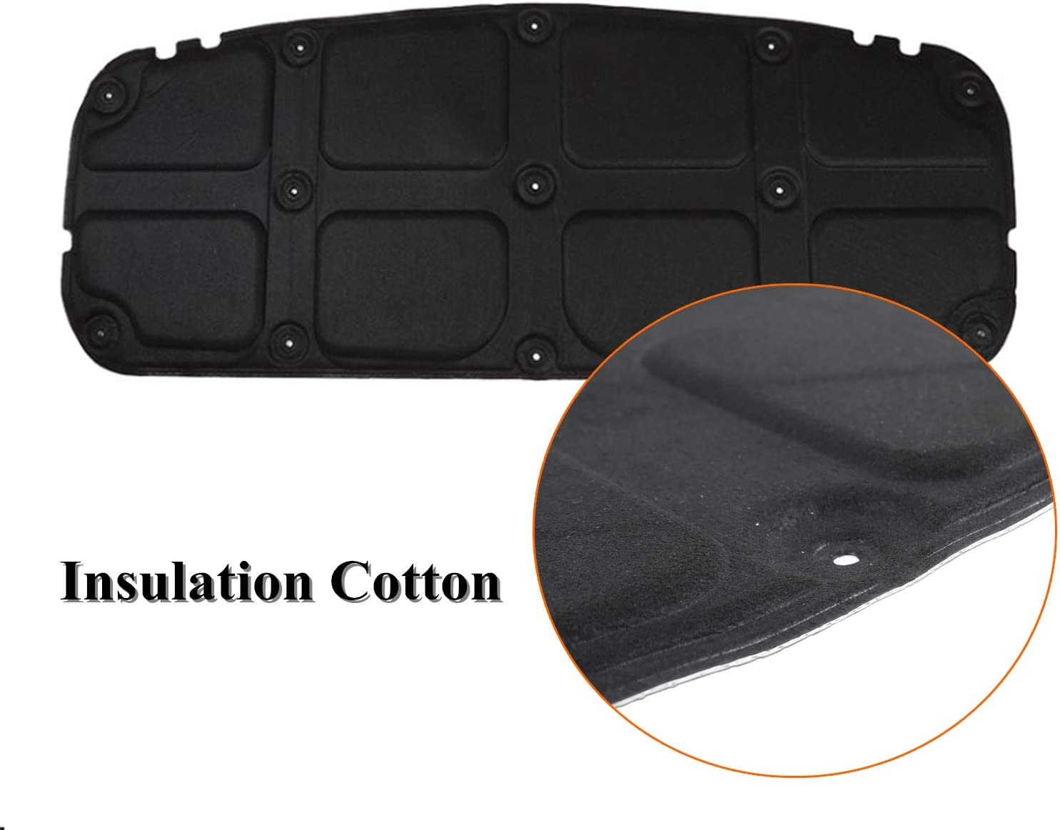 Car Accessories LZTQ Soundproof Insulation Cotton for Suzuki Jimny 2019 2020 JB74 Car Hood Heat Insulation Pad for Suzuki Jimny 2019