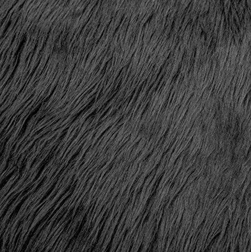 Faux/Fake Fur Shaggy DARK GRAY Fabric by the yard ()