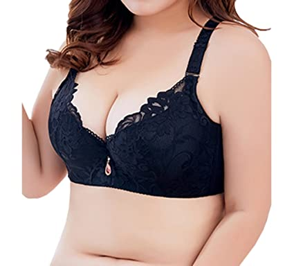 99e20fdfb5 Women Lace Support Push up Bra Bralette Underwire Plus Size  32 34 ...