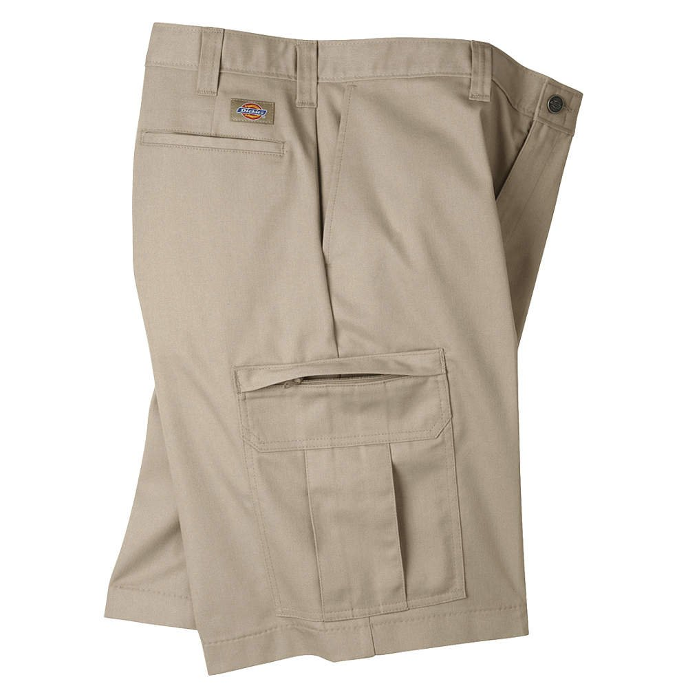 Dickies Occupational Workwear LR542DS 38 Polyester/ Cotton Relaxed Fit Men's Premium Industrial Cargo Short with Hidden Snap Closure, 38 Waist Size, 11 Inseam, Desert Sand by Dickies Occupational Workwear B00GTPW40Y