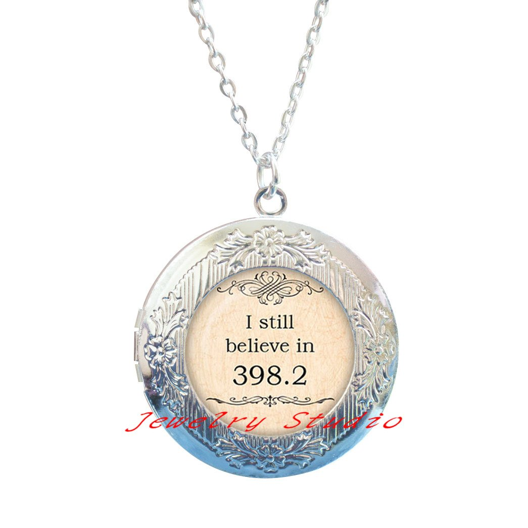 Quote Locket Necklace Quote jewelry Birthday gift,Book Locket Necklace Quote Jewelery-HZ0061 Charming fashion Locket Necklace,I still believe in 398.2 Quote Locket Pendant