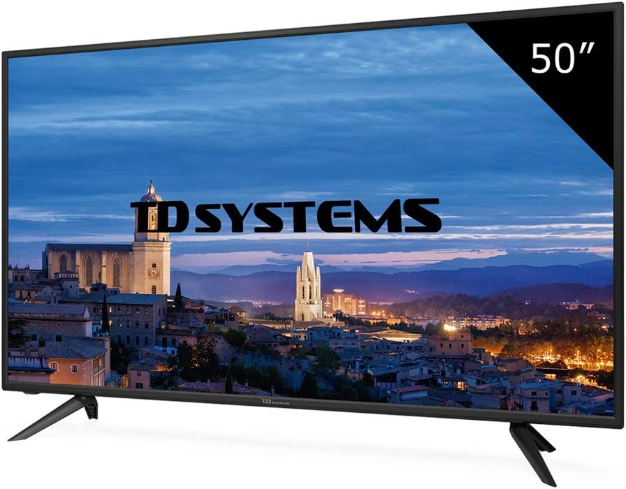 TD Systems K50DLH8F - Televisor Led 50 Pulgadas Full HD, resolución 1920 x 1080, 3X HDMI, VGA, 2X USB Reproductor y Grabador: Amazon.es: Electrónica