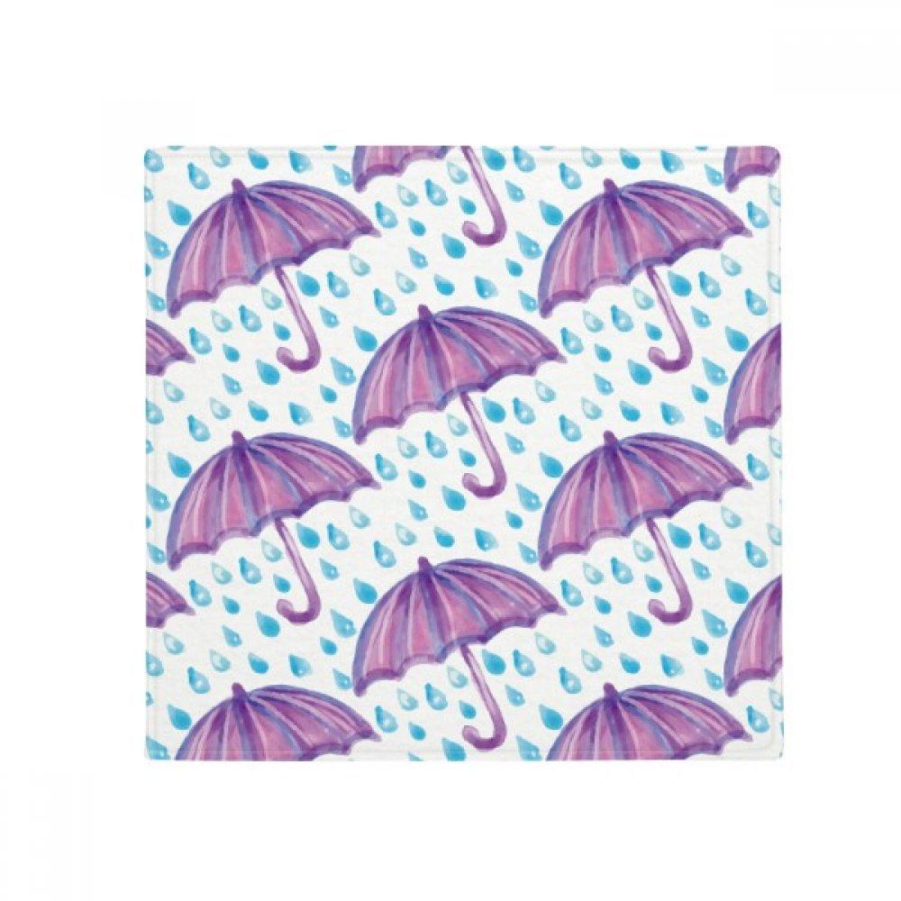 DIYthinker Purple Watercolor Umbrella Rain Anti-Slip Floor Pet Mat Square Home Kitchen Door 80Cm Gift