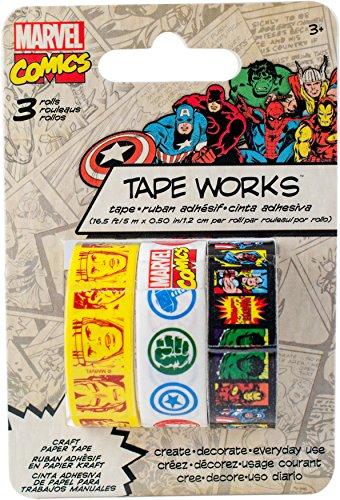 Sandylion Marvel Classic 3 Pack Decorative Washi Tape