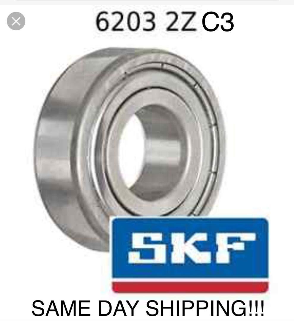 17mm x 40mm x 12mm Koyo 6203ZZC3  Single Row Ball Bearing Double Shielded