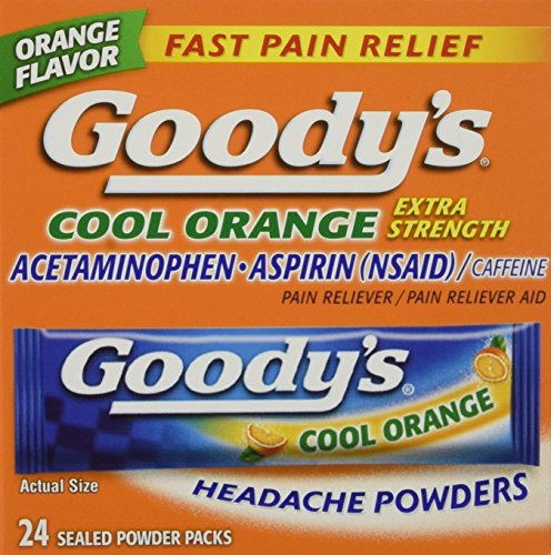 Goodys Cool Orange Extra Strength,  24ct Powder  Packages (Pack of 3)