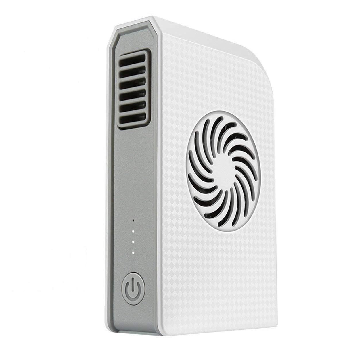 Joysoul Power Bank Cooling Fan, Portable Bladeless 3 speed Travel Fan Pocket Fan Desk Box Fan, 6000mAh Power Bank Rechargeable Fan Home Office Travel Daily Use (white) by Joysoul