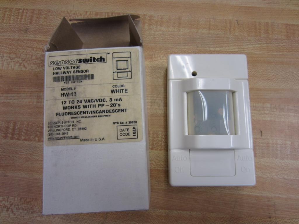 Sensor Switch HW-13 PIR Hallway Sensor Motion Occupancy Sensor Low Voltage, White by Sensor Switch