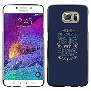 LECELL--Funda protectora / Cubierta / Piel For Samsung Galaxy S6 SM-G920 -- Back Find Quote Inspirational --