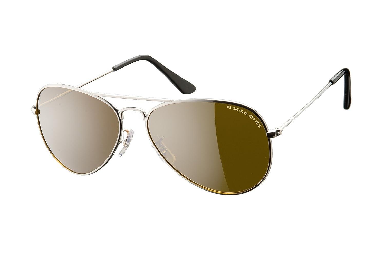cb4950e0c7473 Amazon.com  Eagle Eyes Classic Aviator Sunglasses -Silver Stainless Steel  Frame (58mm)