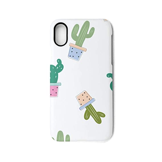 Amazon Com Hiunisyue Iphone X Case Cactus Lovely Wallpaper Shock