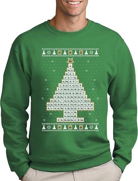 Periodensystem Weihnachtsbaum Ugly Christmas Weihnachtspullover Sweatshirt:  Amazon.de: Bekleidung