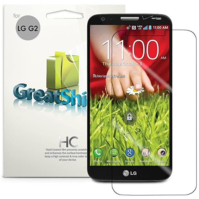 GreatShield GS00151 - Protector de Pantalla (LG, LG G2, 3 Pieza(s ...