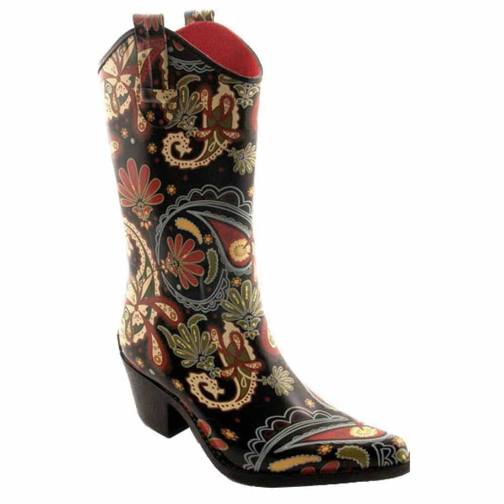 270490823fa87 Corkys Printed Rubber Rodeo Style Women's Rain Boots (6 B(M) Women's US)