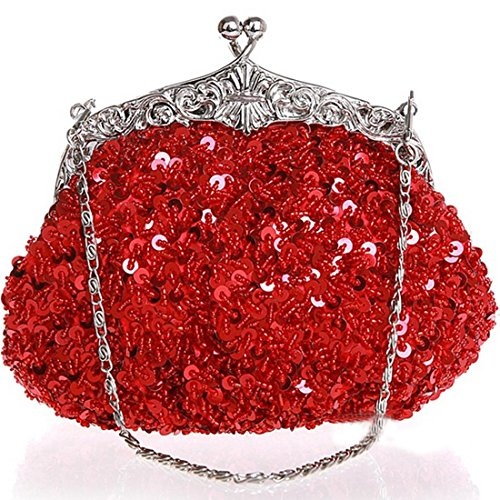 Red Bags Women's Evening Sequin Wedding Clutch Belsen pzqvYp