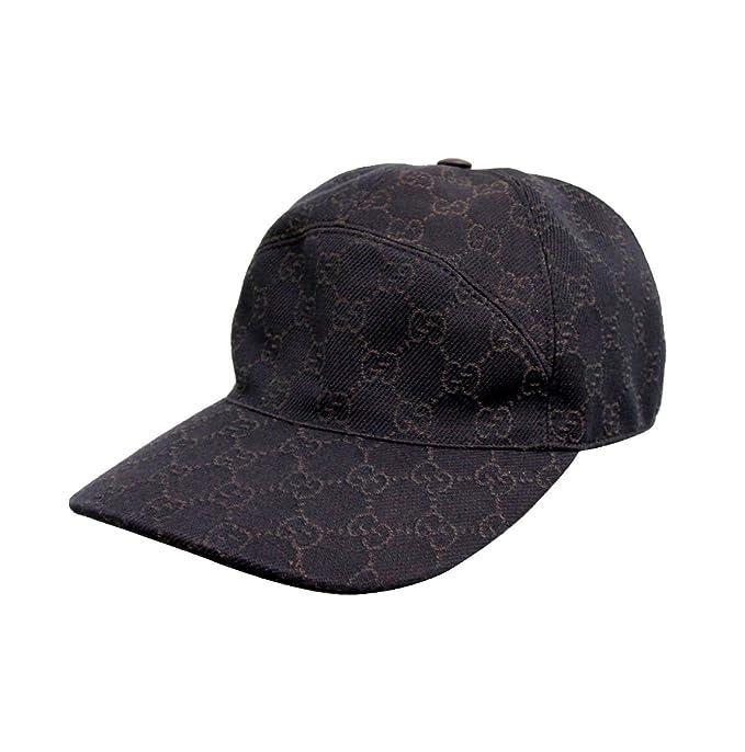 b0c4b4310c6 Gucci Unisex Brown GG Denim Baseball Hat Cap 328055 (Medium)  Amazon ...