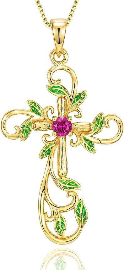 14 k yellow gold elegant christmas tree green enamel natural diamond pendant  gorgeous fine jewelry