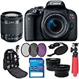 Canon EOS Rebel T7i with EF-S 18-55 IS STM, 32GB Memory Card, SLR Backpack and Pixi-Accessory Bundle