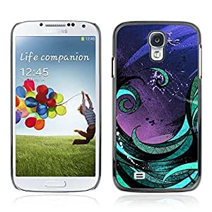 Colorful Printed Hard Protective Back Case Cover Shell Skin for Samsung Galaxy S4 IV (I9500 / I9505 / I9505G) / SGH-i337 ( Abstract Art Painting )
