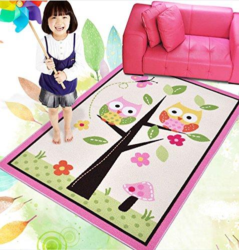 HUAHOO Kids Rugs Girl Bedroom Home Textile,Unique Cartoon