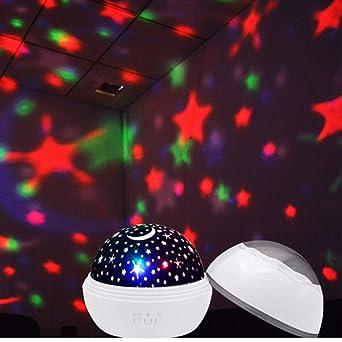 LEDMOMO Lámpara de proyector de estrellas de 360 grados para niños ...