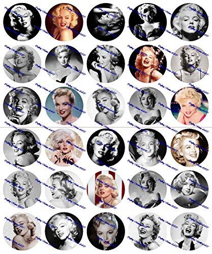30 Precut Images Marilyn Monroe Set 2 -
