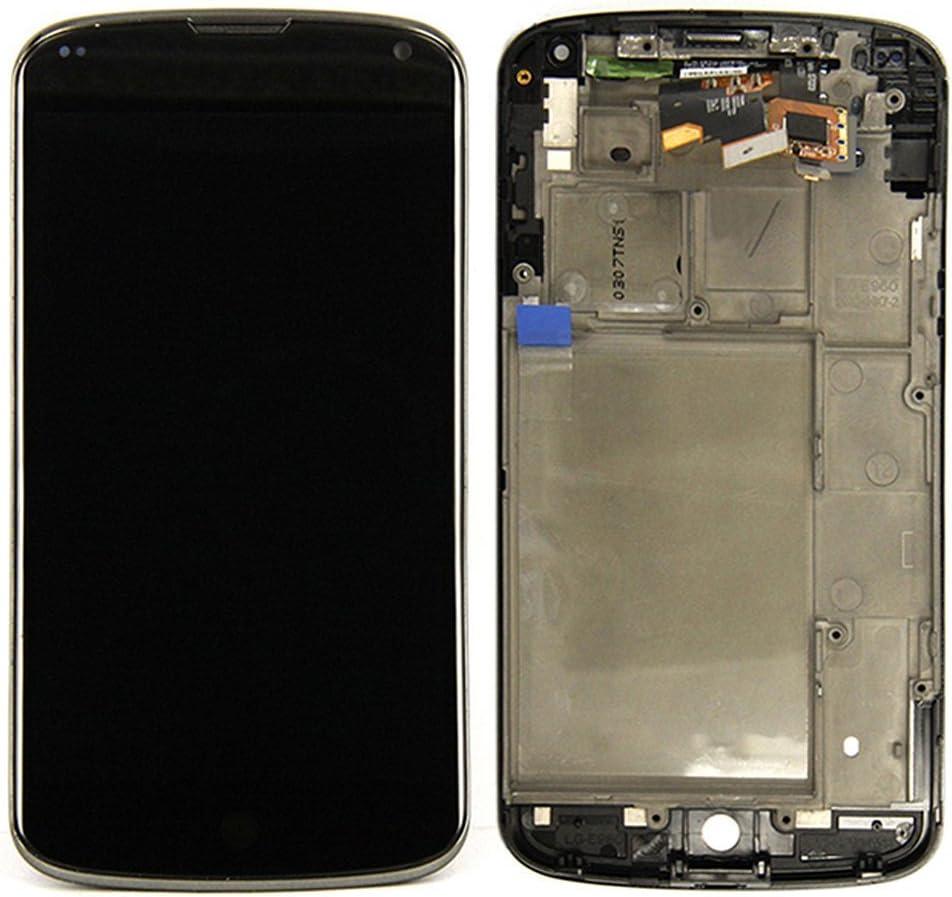 SKILIWAH®Pantalla táctil con Marco para LG Nexus 4 E960+ ...