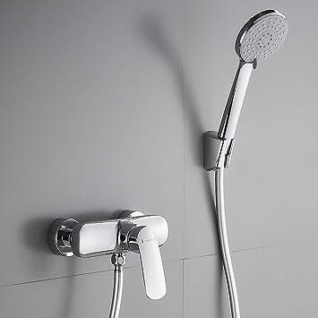 Wandhalterung und 150 cm Brauseschlauch f/ür Badezimmer Dusche BONADE Chrom Wannenarmatur Badewanne Wasserhahn inkl Badewannenarmatur mit Handbrause
