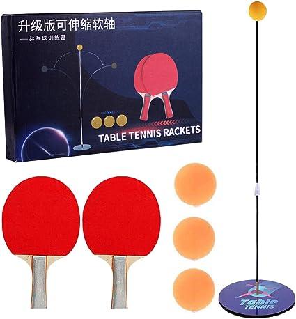 Gxhong Entrenador de Tenis de Mesa con elástico,Entrenador de ...