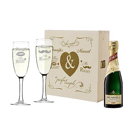 Polar Effekt 2 Sektgläser Und Sekt Flasche In Geschenkbox Personalisiert Geschenk Zur Hochzeit Valentinstag Sektglas Set Mit Gravur Motiv Mr