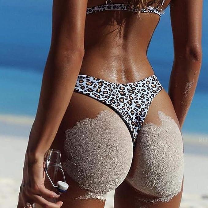 JiaMeng Conjunto De Bikini Acolchado Bra Conjunto de Leopardo Sujetador Push-up Bikini de Playa Traje de baño Traje de baño Mujer Push-up Acolchado Bra ...