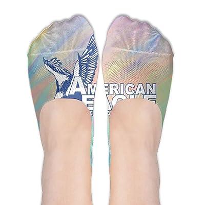 CHI-M American EAGLE Women's Low Cut No-show Socks Non-Slip Socks