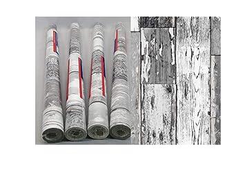 4er Set Klebefolie Holz Scrapwood dunkelgrau Möbelfolie Dekorfolie selbstklebend