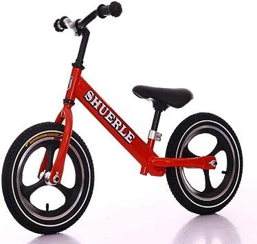1-1 Bicicletas sin Pedales para niños, Ligero Ajustable BMX Primera Bicicleta 12 en,Red: Amazon.es: Deportes y aire libre