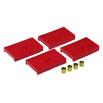 Prothane 7-1708 Red Rear Upper and Lower Multi Leaf Spring Pad Kit: Automotive