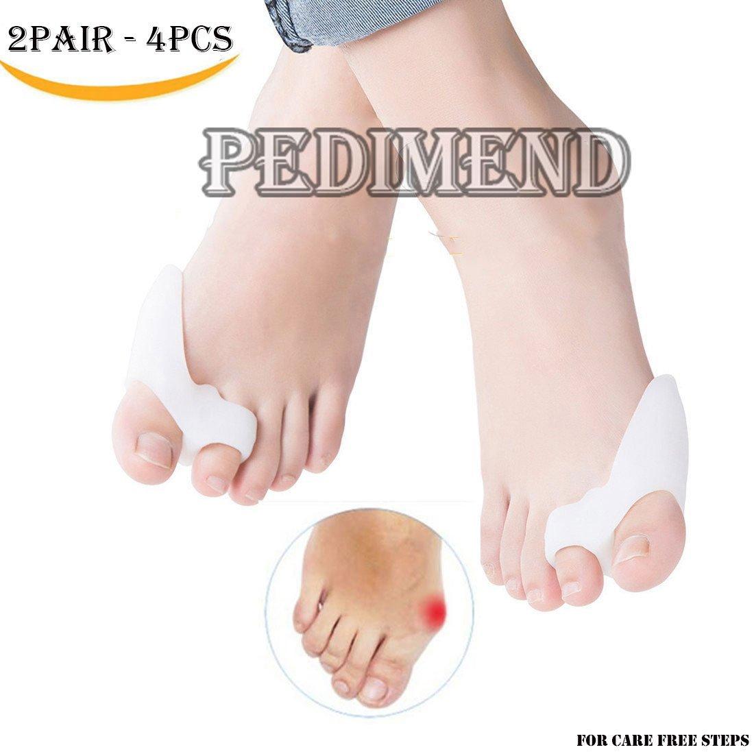 Pedimend da pezzi di alluce valgo correttore & Bunion toe protezioni per alluce valgo trattamento–Gel per dita/separatori/raddrizzatore alluce–allineamento delle dita dei piedi di sostegno–Cuscino da piede, evitare shoe attrito–cura dei piedi