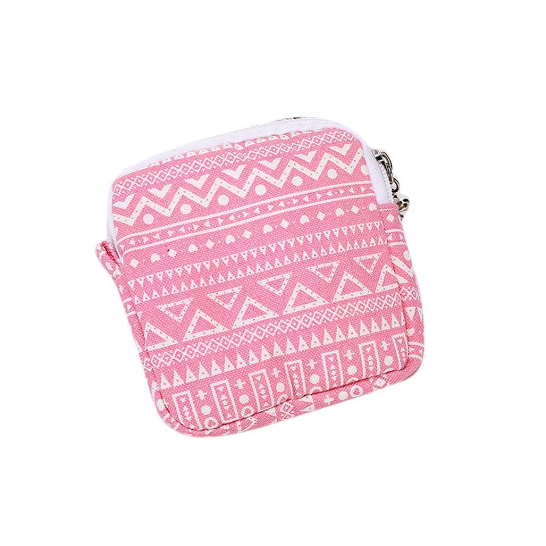 Coin Pouch,Neartime Cute Sanitary Pad Organizer Holder Napkin Towel Convenience Bags (Watermelon Red)