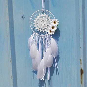 Amaone Attrape-r/êves Fait /à la Main avec des Plumes Tenture Murale D/écoration dint/érieur Ornement Artisanat Cadeau pour la Famille et Les Amis