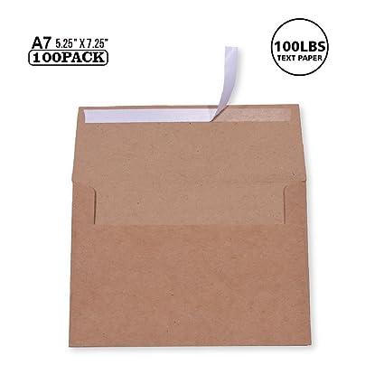 amazon com 100 pack a7 brown kraft paper invitation 5 x 7