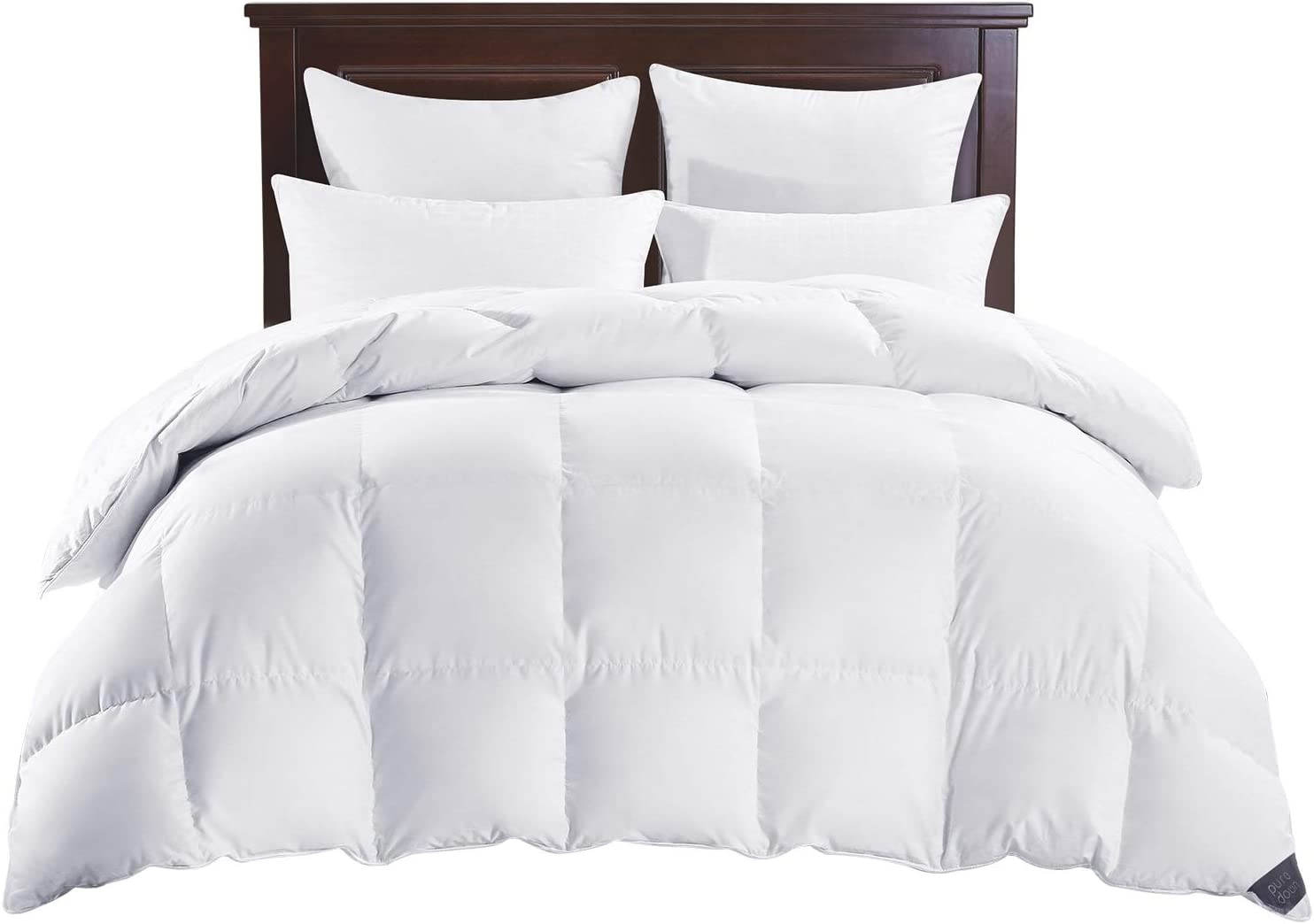 100/% Cotton 600 Fill Power Puredown White Down Comforter All Seasons